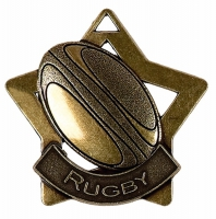 Mini Star Rugby Medal Bronze 60mm