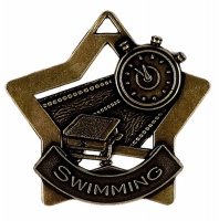 Mini Star Swimming Medal Bronze 60mm