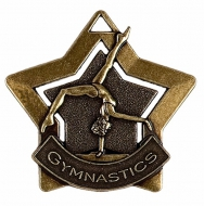 Mini Star Gymnastics Medal Bronze 60mm