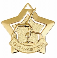 Mini Star Gymnastics Medal Gold 60mm