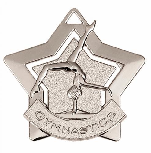 Mini Star Gymnastics Medal Silver 60mm