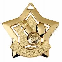 Mini Star Hockey Medal Gold 60mm