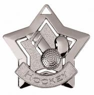 Mini Star Hockey Medal Silver 60mm