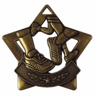 Mini Star Running Medal Bronze 60mm