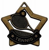 Mini Star Tennis Medal Bronze 60mm