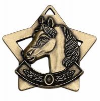 Mini Star Horse Medal Bronze 60mm