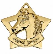 Mini Star Horse Medal Gold 60mm