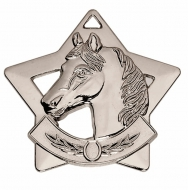 Mini Star Horse Medal Silver 60mm