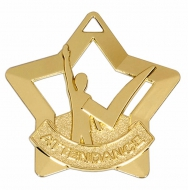 Mini Star Attendance Medal Gold 60mm