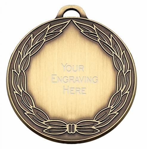 ClassicWreath50 Medal Bronze 50mm