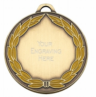 ClassicWreath50 Colour Medal Bronze 50mm