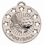 Spectrum40 Football Medal Silver 40mm