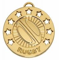 Spectrum40 Rugby Medal Gold 40mm
