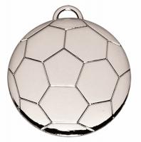 Football40 Medal Silver 40mm
