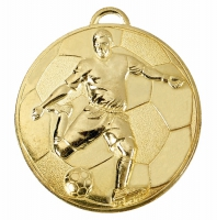 Helix60 Footballer Medal Gold 60mm