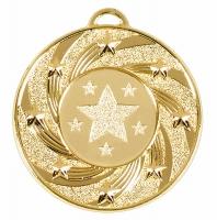 Target50 Star Medal Gold 50mm