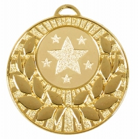 Target50 Wreath Medal Gold 50mm