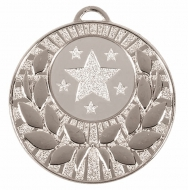 Target50 Wreath Medal Silver 50mm