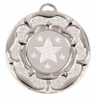 Target50 Tudor Rose Medal Silver 50mm