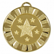 Target40 Flash Medal Gold 40mm