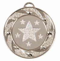 Target40 Star Medal Silver 40mm