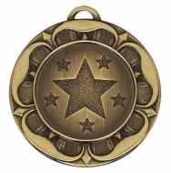 Target40 Tudor Rose Medal Bronze 40mm