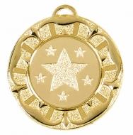 Target40 Tudor Rose Medal Gold 40mm
