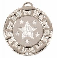 Target40 Tudor Rose Medal Silver 40mm