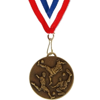 Target50 Football Medal with RWB Bronze 50mm