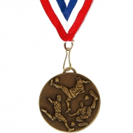 Target60 Football Medal with RWB Ant gold 60mm