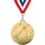 Target50 Hockey Medal with RWB Gold 50mm