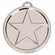 Star50 Bright Medal Silver 50mm
