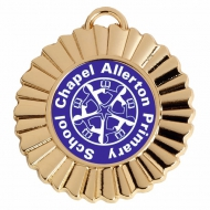 Personalised Rosette Medal Award 1 3/8 Inch (45mm) Diameter : New 2020