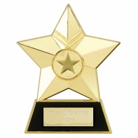 Star Plaque4 Gold 4.75 Inch