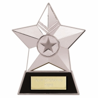 Star Plaque4 Silver 4.75 Inch