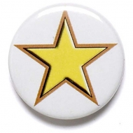 Yellow Star Button Badge Yellow 1 Inch