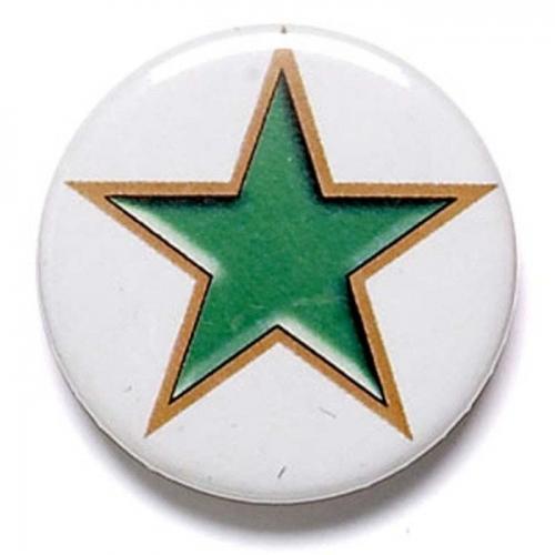 Green Star Button Badge Green 1 Inch