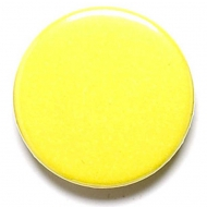 Yellow Button Badge Yellow 1 Inch