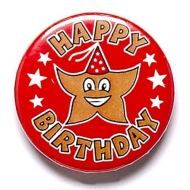 It's your Birthday Button Badge Red 1 Inch
