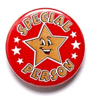 Special Person Button Badge Red 1 Inch