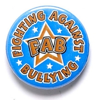 FAB' Button Badge Blue 1 Inch