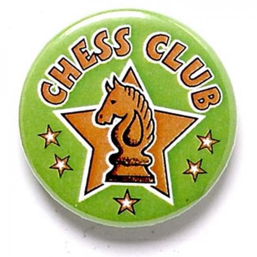 Chess Club Button Badge Green 1 Inch