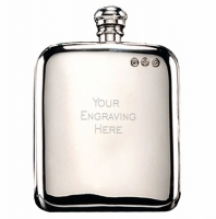 Campbell Classic Flask 6oz Pewter 6oz