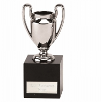 Large Presentation Cup Trophy Silver 6 1/4 Inch