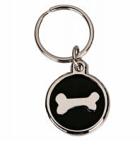 Black Bone Dog Tag 22mm Black 22mm