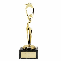 Reach For The Stars8 Gold Trophy Gold 8.25 Inch
