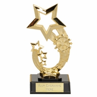 Rising Star6 Trophy Gold 6.75 Inch