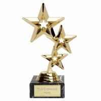 TripleStar8 Gold Trophy (FQ354Q) Gold 8 Inch