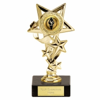 StarCascade7 Gold Trophy Gold 7.75 Inch