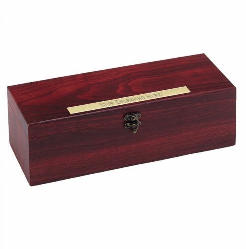 Rosewood Finish Single Wine Rosewood 14.25 x 4.5 x 4.75 Inch